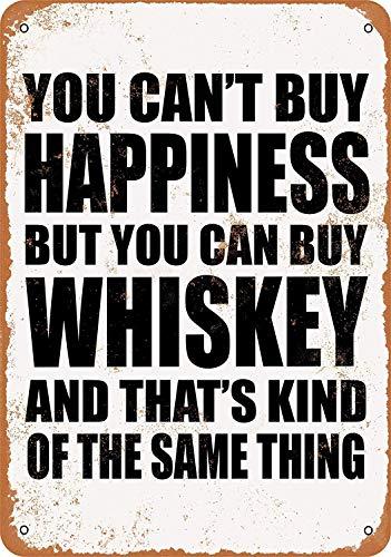 Henson U kunt niet kopen Geluk Maar U kunt Whiskey Nostalgische Kunst Mooie Traditionele Tin Teken Metaal Geschilderd Moderne Wanddecoratie Art Poster Game Kamer Huis Regels Straat Teken