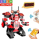 aukfa STEMBuilding Block ToyRC Robotfor Kids, App Controlled &Remote Control Robotic Toyfor Boys and Girls,Engineering Educational Build Kit,Early Learning Birthday Gift for 8 Years and Up