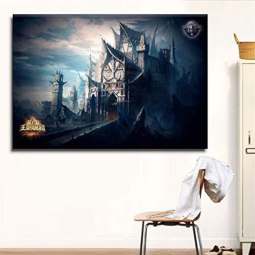UHvEZ 1000pcs_Fotos de Castillo de fantasía_Mini Rompecabezas, Juguetes de Madera, Bellas imágenes, Rompecabezas para Adultos, Regalos para niños, decoración del hogar_50x75cm