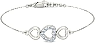 identification-bracelets Size 18K White Gold 0.25 cttw Round-Cut-Diamond IJ| SI 6 inches