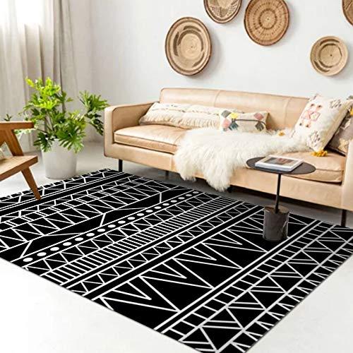 Alfombra Estampada Irregular Geométrica Moderna Gruesa Impermeable Antideslizante Lavable Alfombrilla Adecuada para El Pasillo del Dormitorio