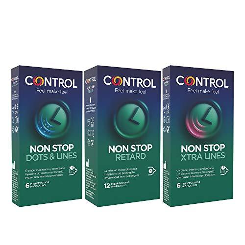 Control Control Performance & Xtra Pleasure Kondome Set mit 24 Kondomen, bestehend aus straffenden und stimulierenden Kondomen aus der Linie Control Non Stop - 200 g