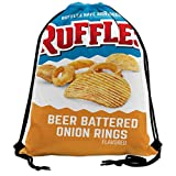 shenyizhu Ruff-les Beer Batter Onion Rings Drawstring Backpack Sport Bags String Bag Sack Cinch Tote...