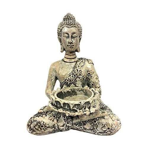 Buddha Statue Tea Light Holder, Meditation Candle, Small Praying Buddha Décor