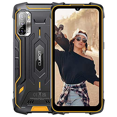 CUBOT KingKong 5 Pro Smartphone, Impermeabile IP69K, 8000mAh Batteria, 6.1 Pollici Display, Android 11, Tripla Fotocamera 48MP, 4GB RAM 64GB ROM, Supporto NFC, GPS Outdoor Cellulare