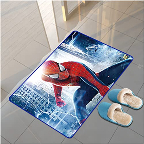 Tapis Tapis Marvel Anime Spiderman Rectangle Dessin Animé Salon Table Basse Chambre Chevet Étude Vestiaire Couloir Porte D'Entrée Tapis Tapis Anti-Dérapant