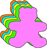 """3"""" Teddy Bear Assorted Color Cut-Outs, 31 Cut-Outs in a Pack for Teddy Bear Picnics, Spring Crafts, Kids' School Craft Projects"""