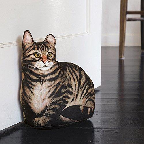Cat Doorstop | Brown Tabby Cat Door Stop | Decorative Door Stopper | Great Gift for Cat Lovers