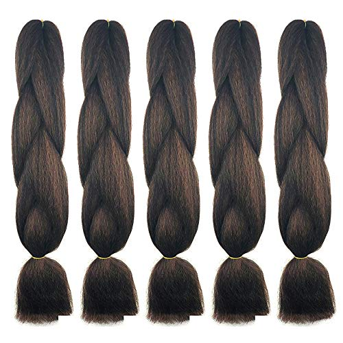 BNG Classic Braiding Hair 25 Inch 100% Kanekalon Jumbo Synthetic Bulk...