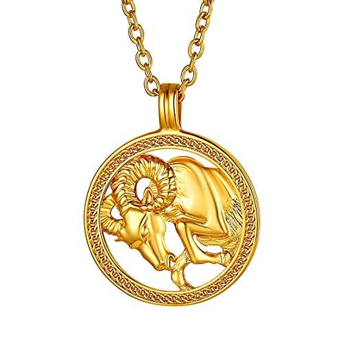 Collar de Aries bañado en oro
