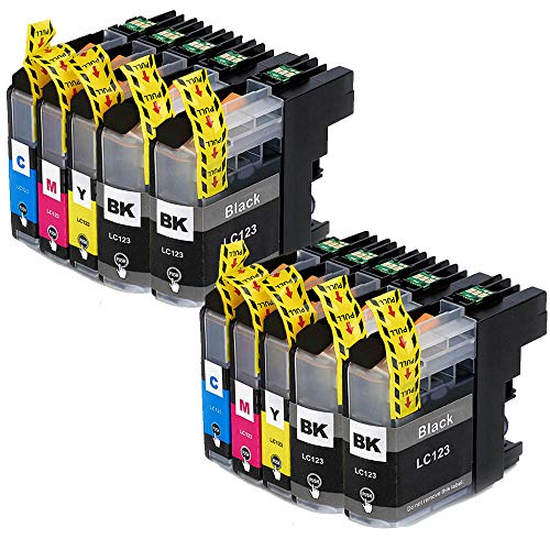 Teland - Cartucho de tinta compatible con Brother LC123 XL para Brother MFC-J4610DW MFC-J6520DW MFC-J4410DW MFC-J6920DW MFC-J6720DW DCP-J132W MFC-J870DW (10 unidades)