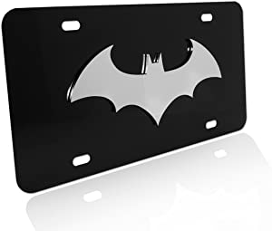 Batman Bat Stainless Steel 3D Black License Plate