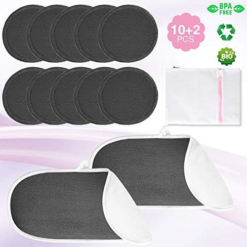 Rovtop Cuscinetti Per Struccare, Pad antimuffa riutilizzabile 10 confezioni e 2 asciugamani struccanti, Panni Lavabili Per Il Viso, borsa per il bucato