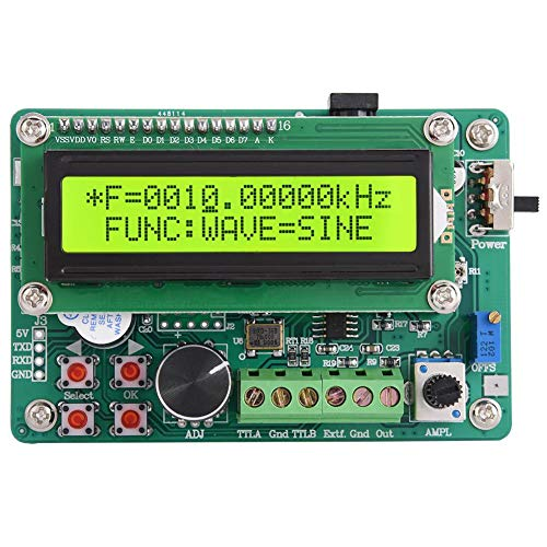 Akozon DDS Signal Generator Kit Frequenzgenerator AC100-240v Dual-TTL-Ausgang DDS-Modul Frequenzbereich 0.01Hz ~ 10MHz COUNTER-Funktion SWEEP-Funktion(FY1010S 10MHz)