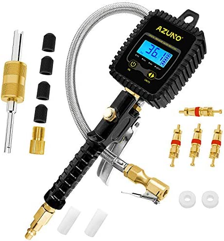 AZUNO Digital Tire Inflator with Pressure Gauge Professional 255 PSI 0 1 Display Resolution product image