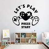 zhuziji Gamer Wandtattoo Eat Sleep Game Wandtattoo Controller Videospiel Abziehbilder angepasst für...