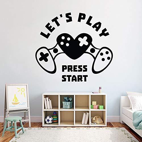 Pegatinas de pared de jugador,pegatinas de videojuegos,pegatinas de vinilo para dormitorio de niños,pegatinas de papel tapiz,pegatinas de pared,otros colores 42X38CM
