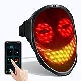 LEMNOI LED Máscara Disfraz de Luces Brillante con Bluetooth, Máscara Iluminada LED para Halloween Juguete de Mascarada...