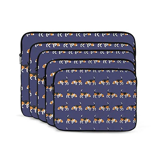 Computer Bag Liner Carrying Case Water-Repellent Fabric Business Casual or SchoolBeagle Sniffs-15 inch