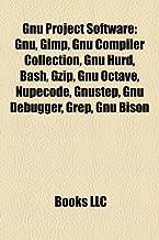 GNU Project software: GNU, GIMP, GNU Compiler Collection, GNU Hurd, Bash, Gzip, GNU Octave, NupeCode, GNUstep, GNU Debugger, Grep, GNU bison