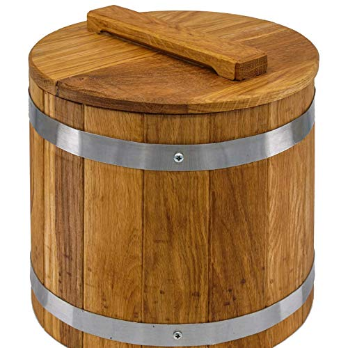 Sale!! Sauerkraut Bucket, Wood Fermenting Crock, Sauerkraut Jar for Cabbage