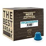 Note D'Espresso Cápsulas de Café Descafeinado exclusivamente compatibles con afeteras Nespresso* -...