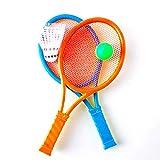 Runfon Jouet Raquette de Tennis Jeu de Balle Jouets pour Enfants (Couleurs aléatoires)
