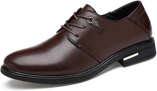 XHD-Chaussures Chaussures de Ville Simples Oxford Décontracté Simples à Bout Bout Rond pour Hommes (Couleur   Marron, Taille   44 EU)  meilleurs prix