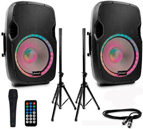 Audibax Set 2 Unidades Party 15 Altavoz Activo Profesional Bluetooth 15