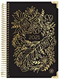 HARDCOVER bloom daily planners 2021 Calendar Year Day Planner (January 2021 - December 2021) - Passion/Goal Organizer - Monthly & Weekly Inspirational Agenda Book - 6' x 8.25' - Gold Embroidery