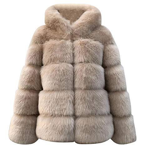 Vectry Rebajas Mujer Abrigo De Peluche Sintético Sudadera con Capucha Sudadera De Color Liso Chaqueta con Capucha Abrigo De Invierno Ropa De Abrigo De Mujer