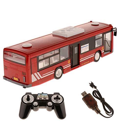 B Blesiya 1:12 Juguete de Autobús Inalámbrico Control Remoto con Sonido Iluminación Regalo de Cumpleaños Navidad para Niños 3+ Años