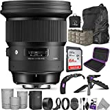 Sigma 105mm f/1.4 DG HSM Art Lens for Sony E Mount with Altura Photo Advanced Accessory and Travel Bundle