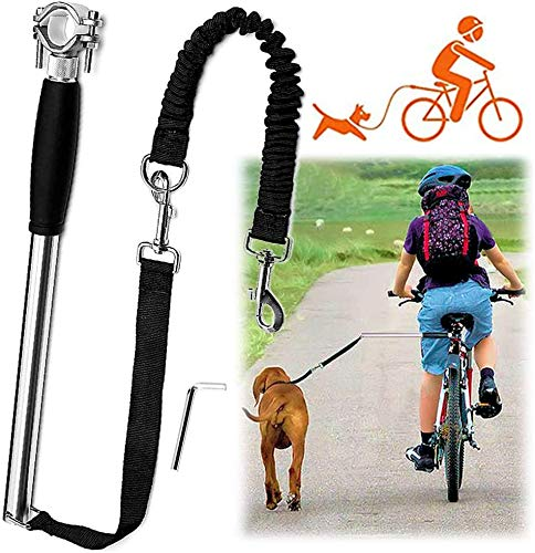 MWY Dog Hands Free Leashes,Dog Bike Leash,Dog Bicycle Exerciser Leash for Exercising Training Jogging Cycling,Easy Installation,Removal Hand Free (Black)