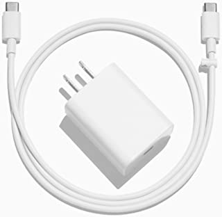 Official Google Pixel/XL/C Quick Fast Charger (White - Adapter with Type C to C Wire)
