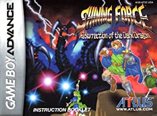 Shining Force -Resurrection of the Dark Dragon GBA Instruction Booklet (Nintendo Gameboy Advance Manual ONLY - NO GAME) Pamphlet - NO GAME INCLUDED
