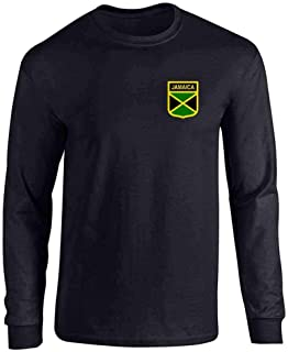 Jamaica Soccer Retro National Team Costume Full Long Sleeve Tee T-Shirt