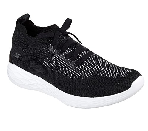 Skechers Men's GOstrike Running Shoes (11.5 D(M) US, Black/White)