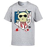 Diver Camisetas Camiseta Atleti o Muerte ilustrado por Jorge Crespo Cano - Gris, L