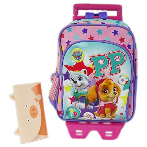 Paw Patrol Top Pups Zaino Trolley Asilo con Due Ruote