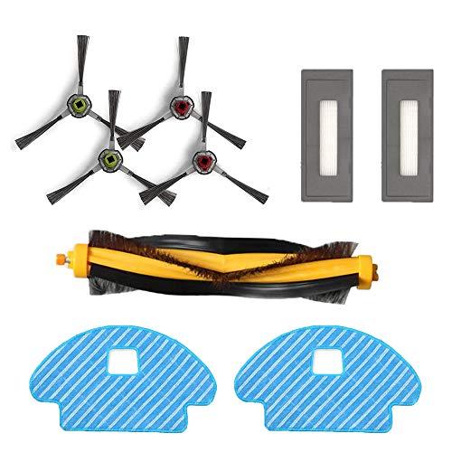 Feicuan Juego de Repuesto de Limpieza para ECOVACS DEEBOT OZMO 930 DG3G-KTA Robot Aspirador, Accesorios Paquete de 1 Cepillo Principal, 4 Cepillos Laterales, 2 Filtro de Polvo, 2 Paño de Fregar