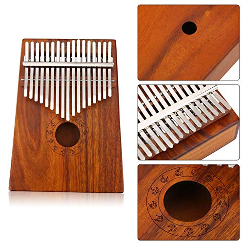 SISHUINIANHUA 17 Schlüssel Finger Daumen Klavier Afrikanische Finger Mbira Tragbare Daumen Klavier Musikinstrument für Kinder Erwachsene Lernen