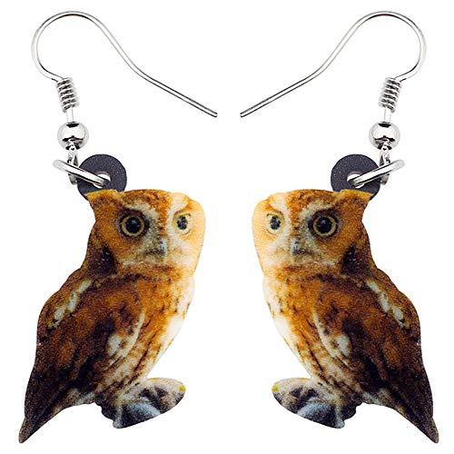DFHTR Acryl Eule Vogel Ohrringe Long Dangle Drop Mode Tier Schmuck Für Frauen Mädchen Weibliche Anhänger Ohrringe , Festival Party Geschenke