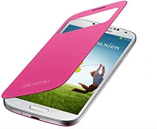 Samsung Galaxy S4 S-View/Clear Cover Pink - [Trusted Australian Seller]