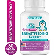 Breastfeeding Supplement for Lactation Support - Lactation Supplement for Increased Breast Milk - Aid for Breastmilk Supply - Fenugreek Seed, Nettle & Milk Thistle for Milkflow - 60 Vegan Capsules