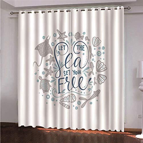 DOORWD Tenda Oscurante Termica Isolante con Occhielli Tende Sfondo Bianco 2 Pannello per Finestre Soggiorno Interni 150 cm x 166 cm