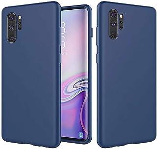 KSHOP Funda para Samsung Galaxy Note 10 Pro Silicona Líquida Delgado Protección Suave TPU Gel Case [Tecnología de Cojín de Aire] Anti-Choque Carcasa - Azul