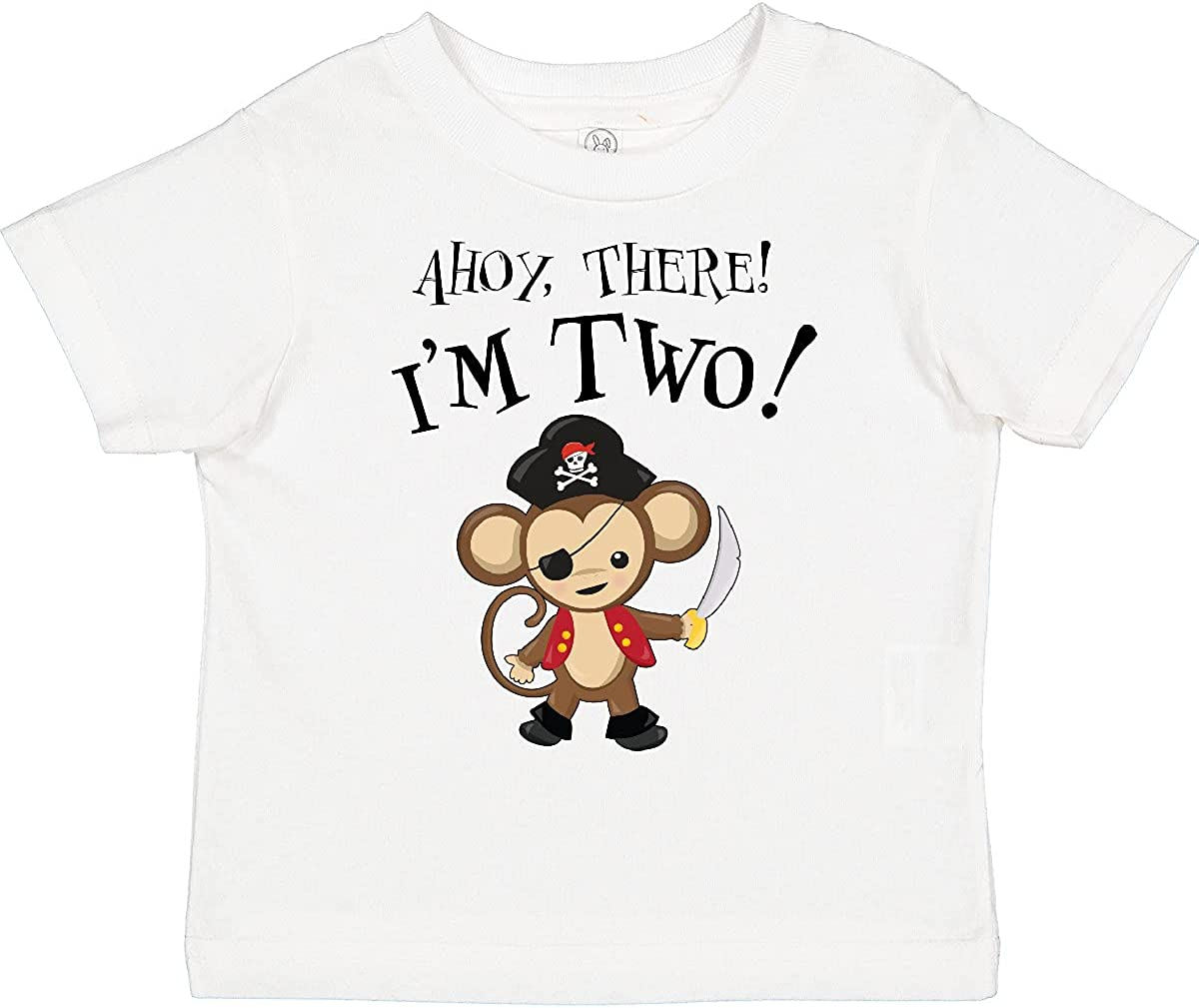 inktastic Ahoy, There I'm Two- Pirate Monkey Second Birthday Toddler T-Shirt