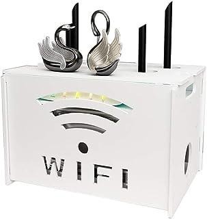 LULUDP Scatola di archiviazione wireless Charging Cable Box router wireless stoccaggio connettore del cavo Wifi mensola mo...