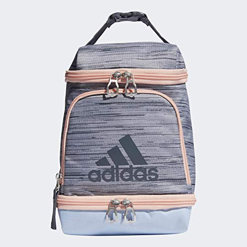adidas Unisex Excel Insulated Lunch Bag, Lopper Grey Two/Glow Blue/Glow Pink/Onix, ONE SIZE